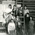1989 г. Чита. Музыкальная группа из Иркутской церкви поддерживает служение миссионеров