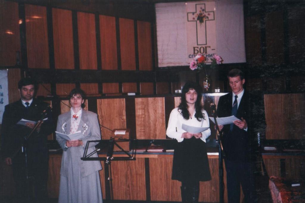 8 марта 1998 г. На воскресном богослужении. Праздничная декламация «Агарь»