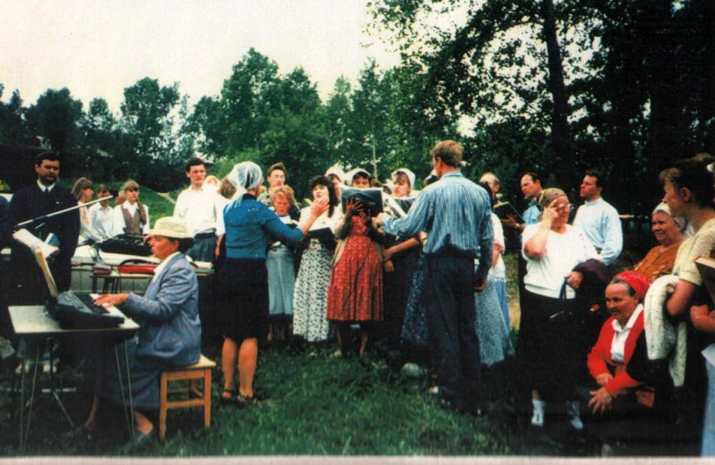 22 июня 1997 года. Крещение на реке Ангара