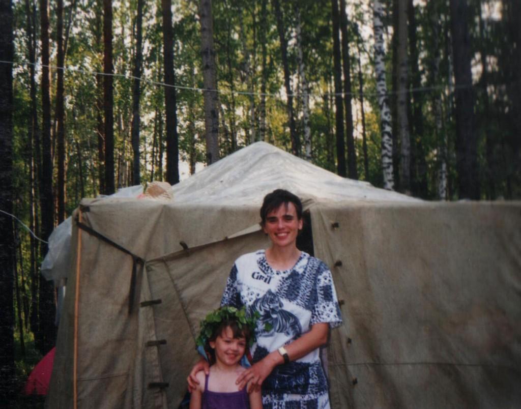 Лето 1998 г. Детский христианский лагерь «Колосок». Лидия Корень