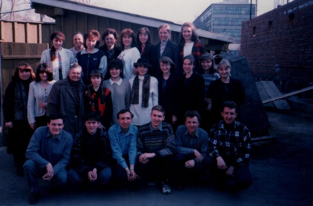 Апрель 1998 г. Обучение работе в детских христианских лагерях на Кайской, 5